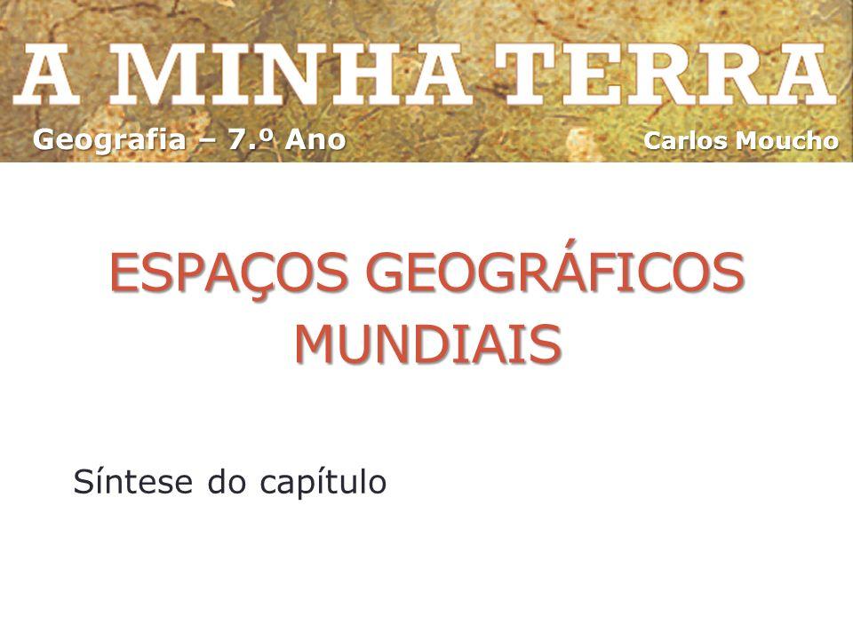 ESPAÇOS GEOGRÁFICOS MUNDIAIS Síntese do capítulo Carlos Moucho Geografia – 7.º Ano