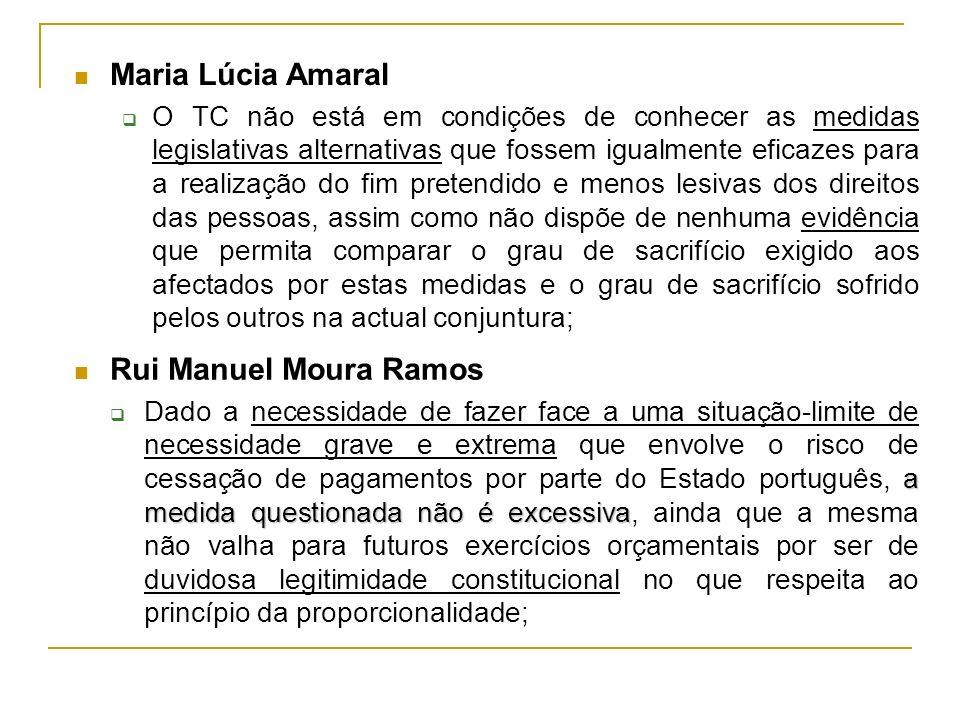Rui Manuel Moura Ramos a medida questionada não é excessiva Dado a necessidade de fazer face a uma situação-limite de necessidade grave e extrema que