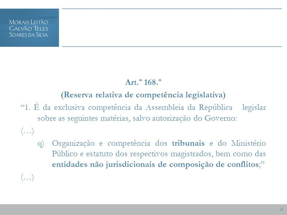 23 Art.º 168.º (Reserva relativa de competência legislativa) 1.