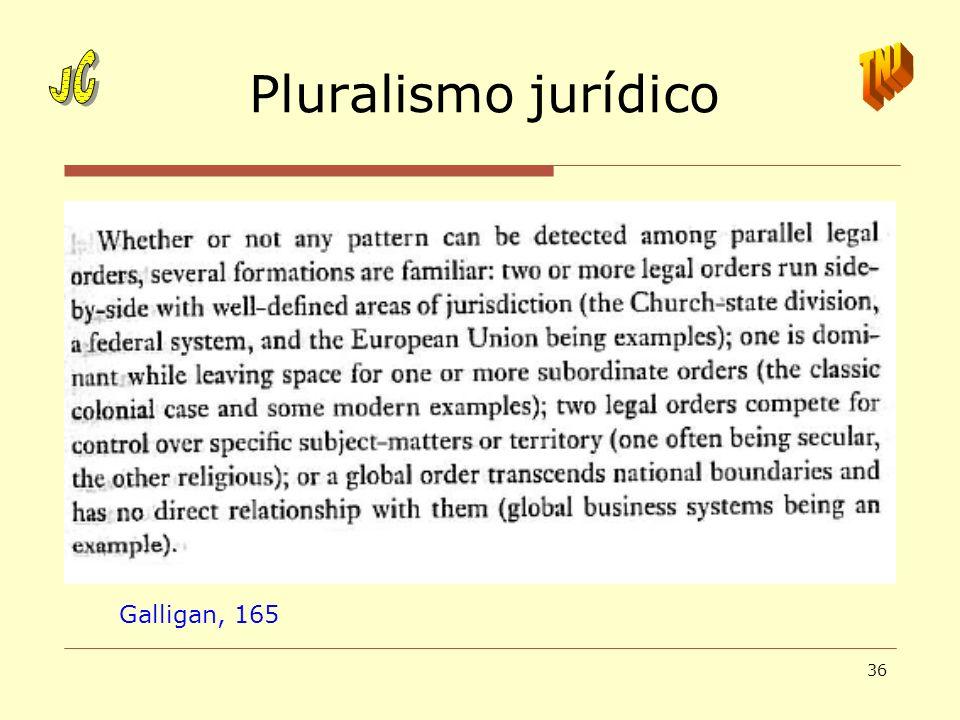 36 Pluralismo jurídico Galligan, 165