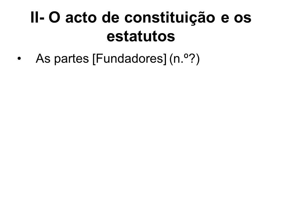 Elementos obrigatórios do acto constitutivo [167/1] Denominação Fim [actividade] Sede Órgãos da sociedade [Direcção, CF: art.162] Contribuição dos associados
