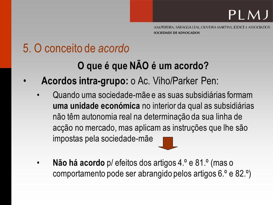 5. O conceito de acordo O que é que NÃO é um acordo.