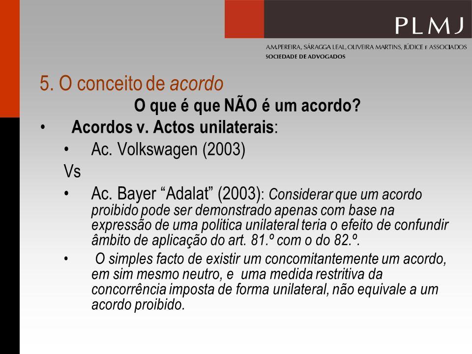 5.O conceito de acordo O que é que NÃO é um acordo.