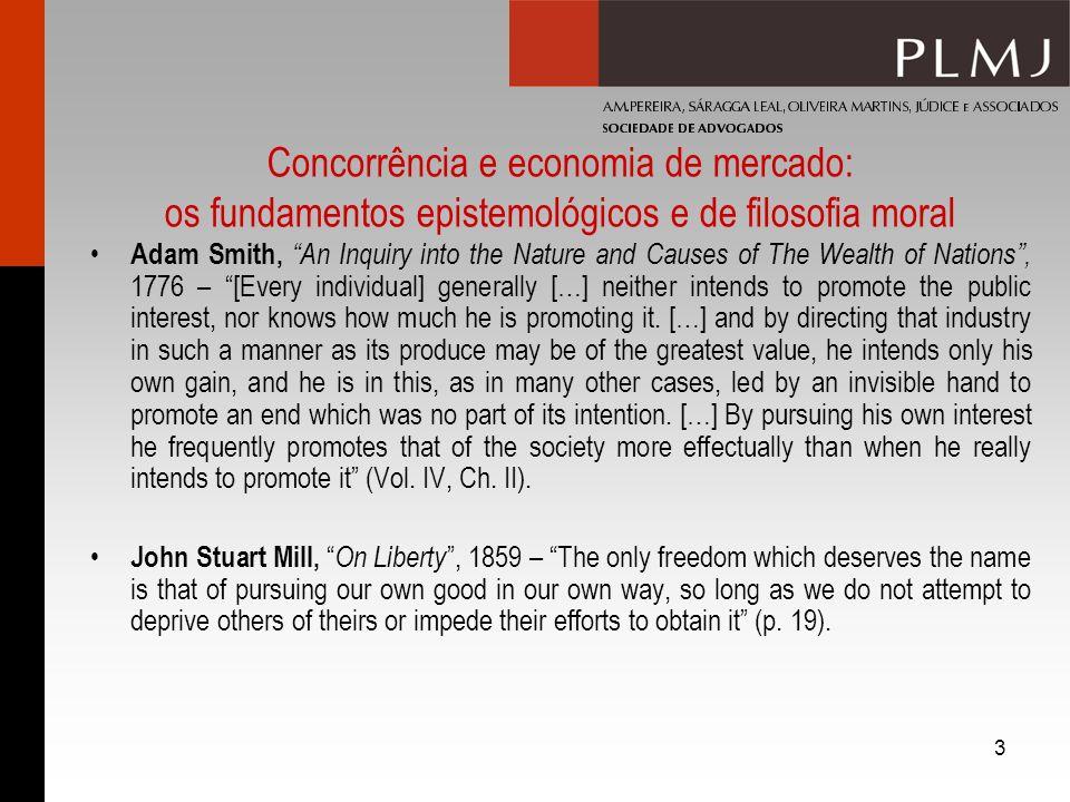 14 Concorrência, monopólio e realidade II Monopólios naturais v monopólios legais: a questão da mínima dimensão eficiente – concorrência pelo mercado v concorrência no mercado.