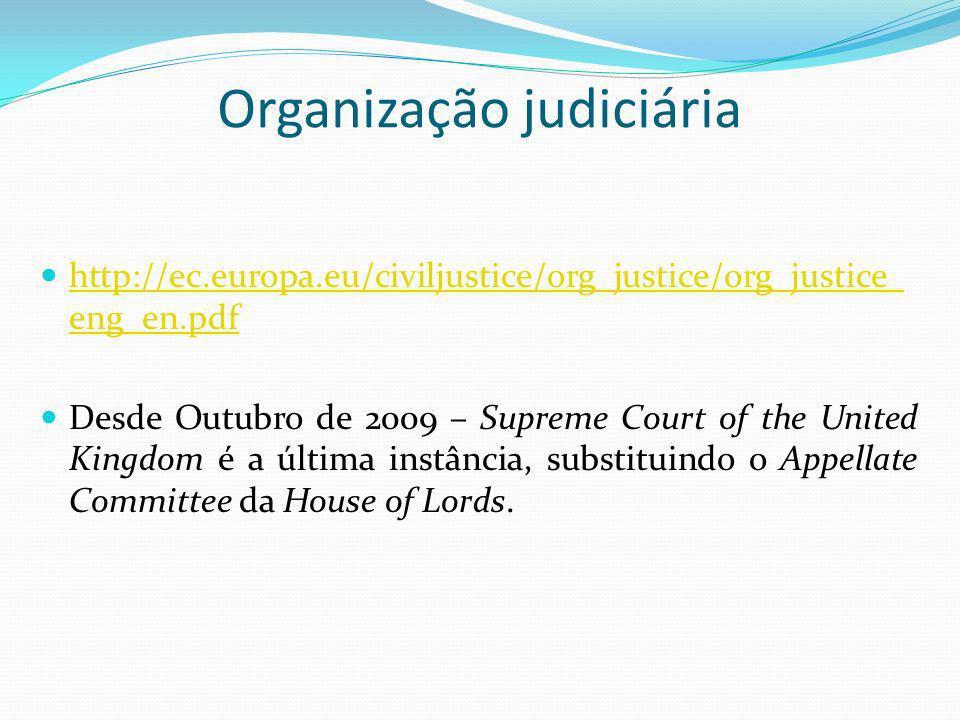 Organização judiciária http://ec.europa.eu/civiljustice/org_justice/org_justice_ eng_en.pdf http://ec.europa.eu/civiljustice/org_justice/org_justice_