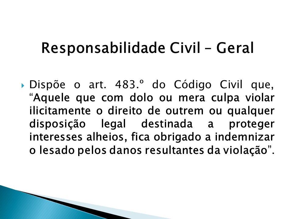 Responsabilidade Objectiva Há sectores da vida ou necessidade sociais que se sobrepõem à justiça.