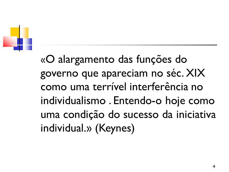 « O alargamento das funções do governo que apareciam no séc.