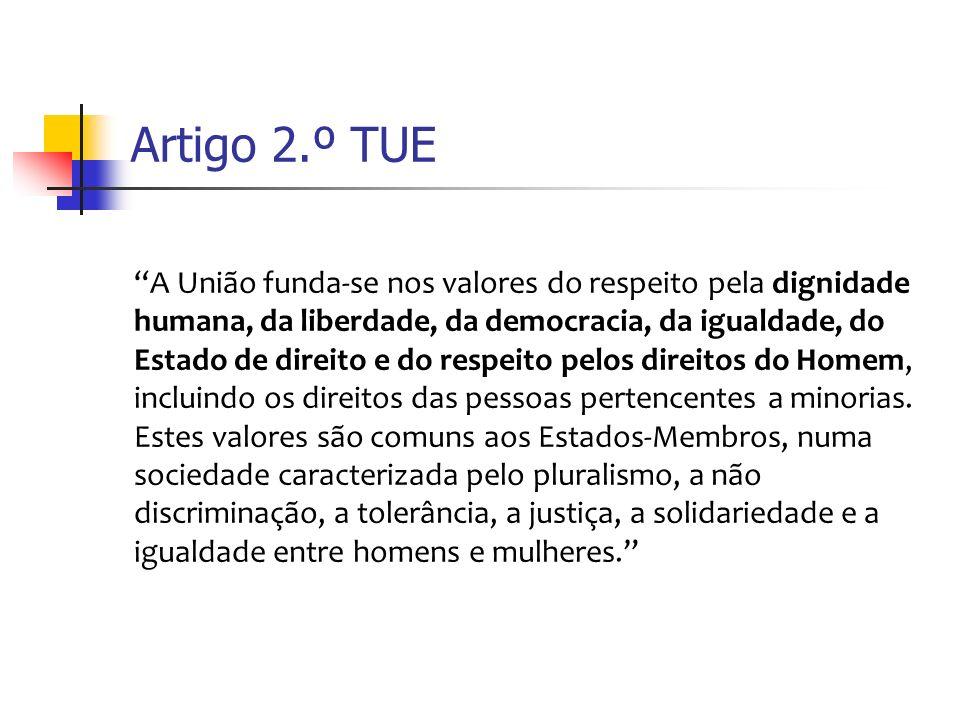 Artigo 3.º TUE (ex.art. 2.º TCE) 1.