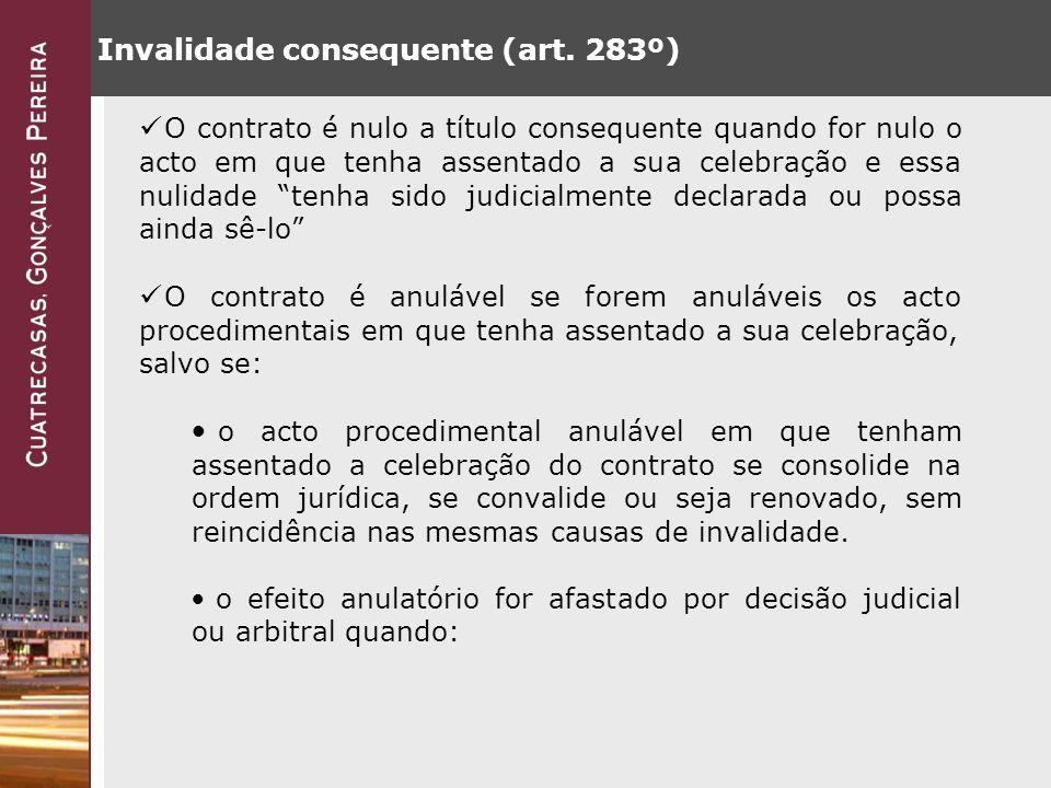 Invalidade consequente (art.