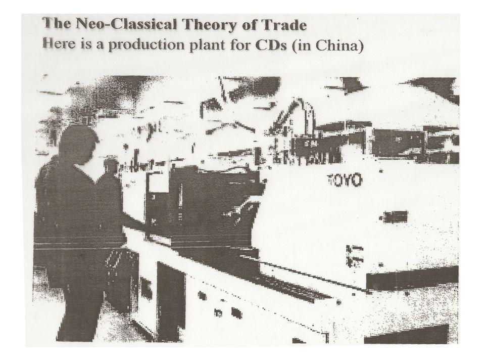 O que a teoria do ciclo do produto não explica: Fragmentação do processo produtivo