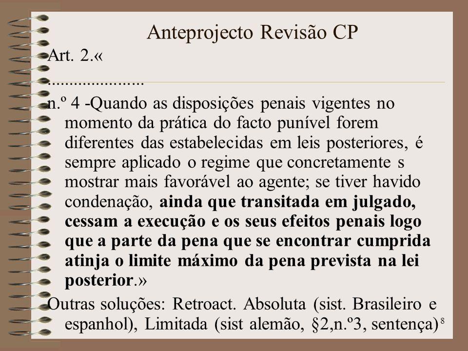 8 Anteprojecto Revisão CP Art. 2.«......................
