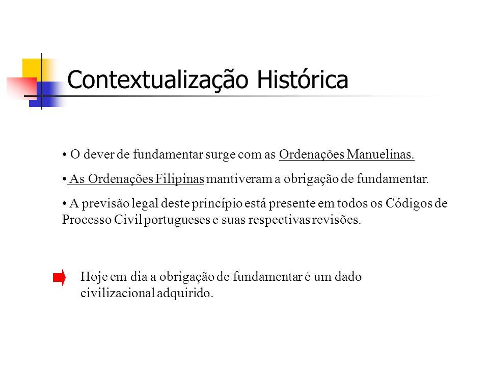 O dever de fundamentar surge com as Ordenações Manuelinas.