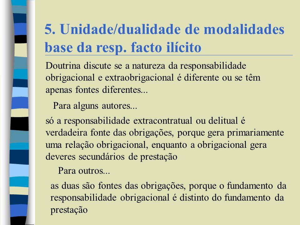 5.Unidade/dualidade de modalidades base da resp.