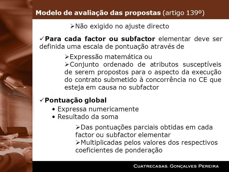 Para cada factor ou subfactor elementar deve ser definida uma escala de pontuação através de Expressão matemática ou Conjunto ordenado de atributos su