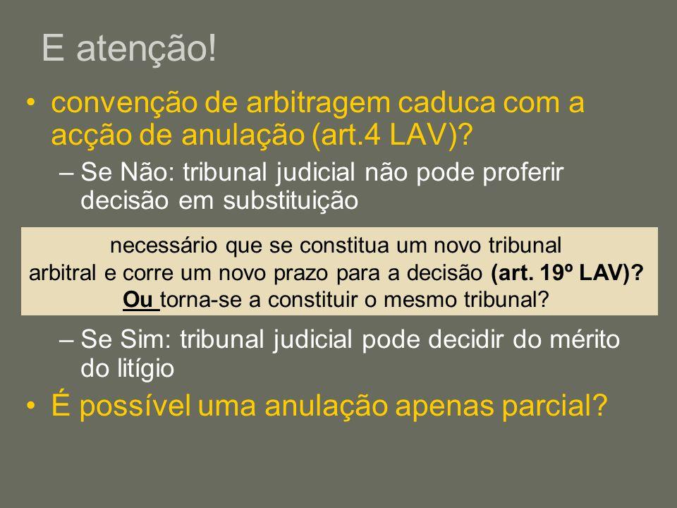 Fundamentos de anulação – art.27º/1 LAV 1.