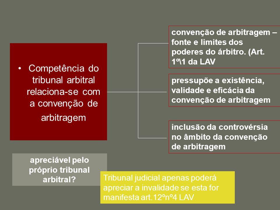 regularidade da constituição do tribunal arbitral relaciona-se com o respeito das regras previstas no art.