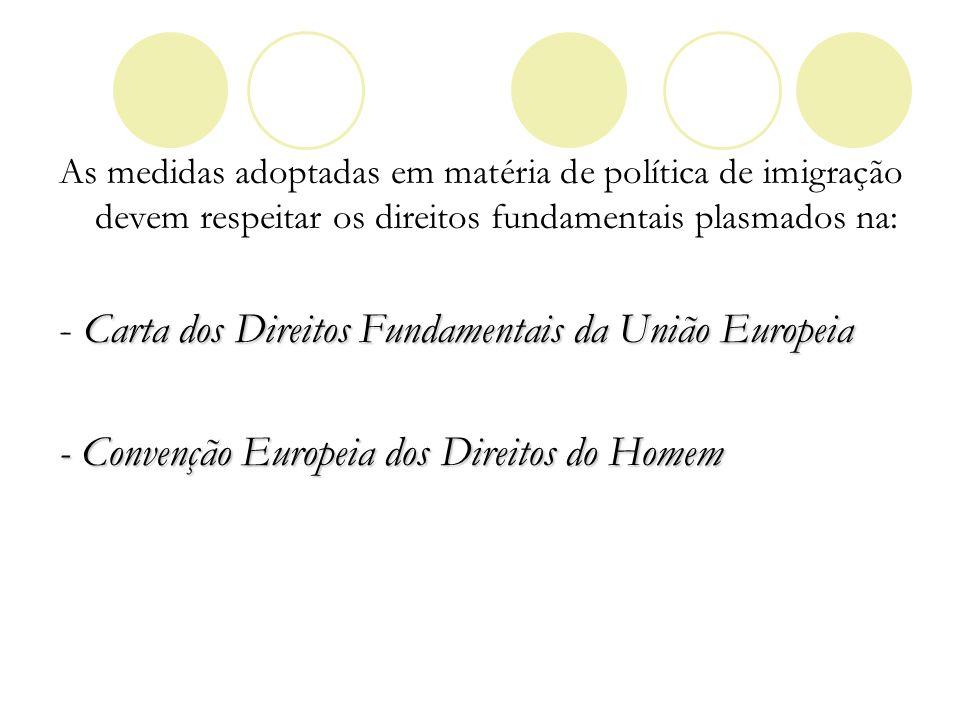 Carta dos Direitos Fundamentais da União Europeia -Âmbito de aplicação (divisão tripartida) - Direitos específicos dos estrangeiros: Art.