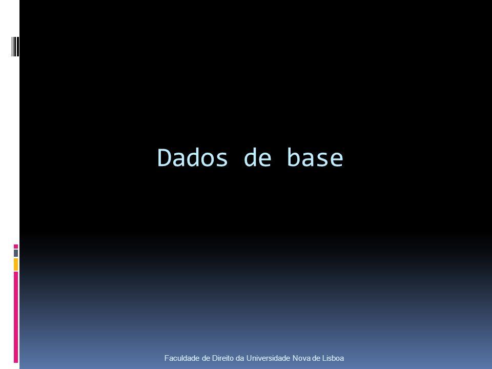 Dados de base Faculdade de Direito da Universidade Nova de Lisboa