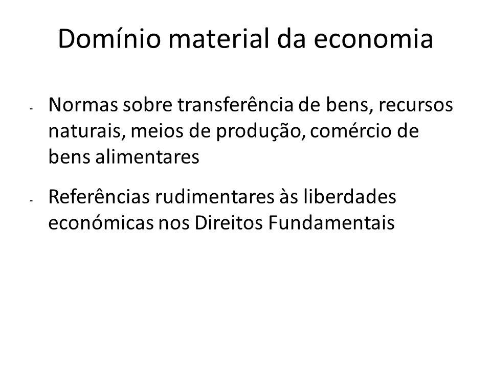 Domínio material da economia - Normas sobre transferência de bens, recursos naturais, meios de produção, comércio de bens alimentares - Referências ru