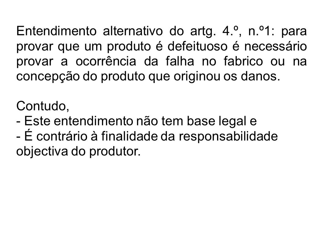 Entendimento alternativo do artg.