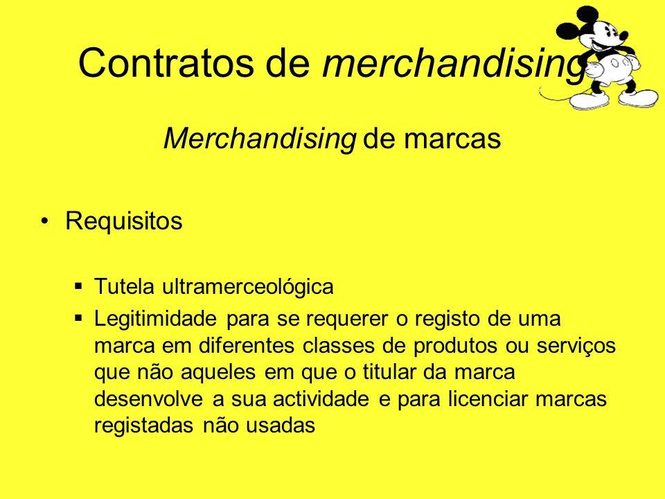 Contratos de merchandising Merchandising de marcas Requisitos Tutela ultramerceológica Legitimidade para se requerer o registo de uma marca em diferen