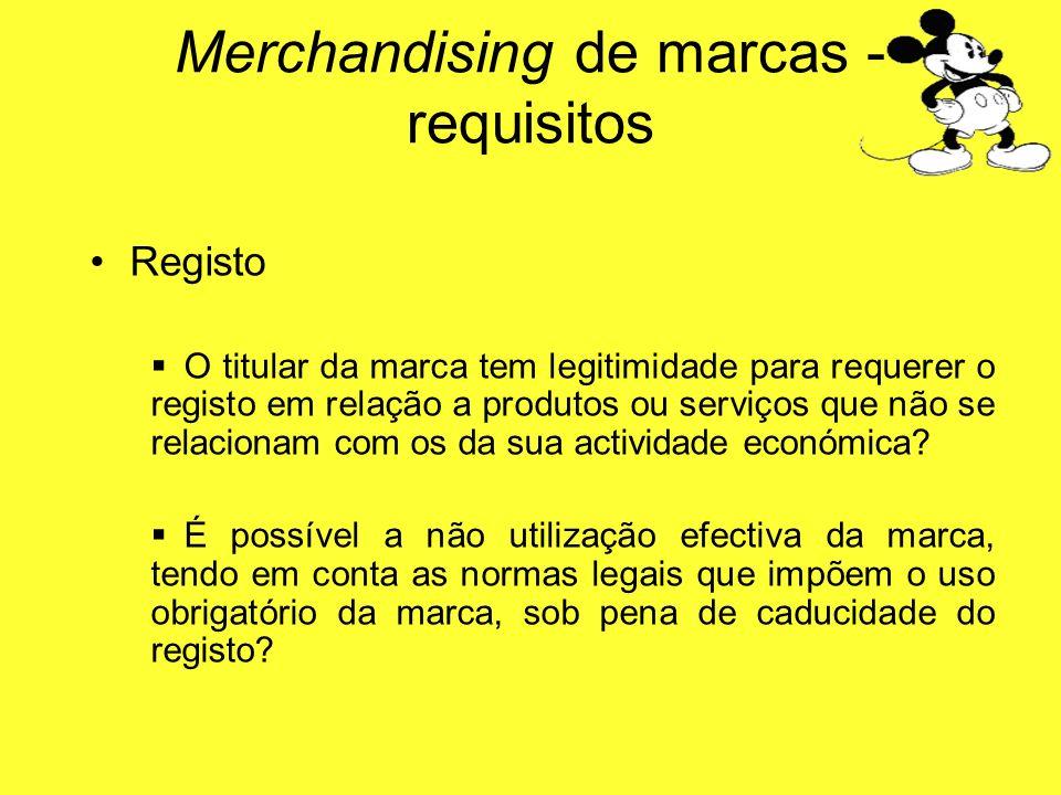 Registo O titular da marca tem legitimidade para requerer o registo em relação a produtos ou serviços que não se relacionam com os da sua actividade e