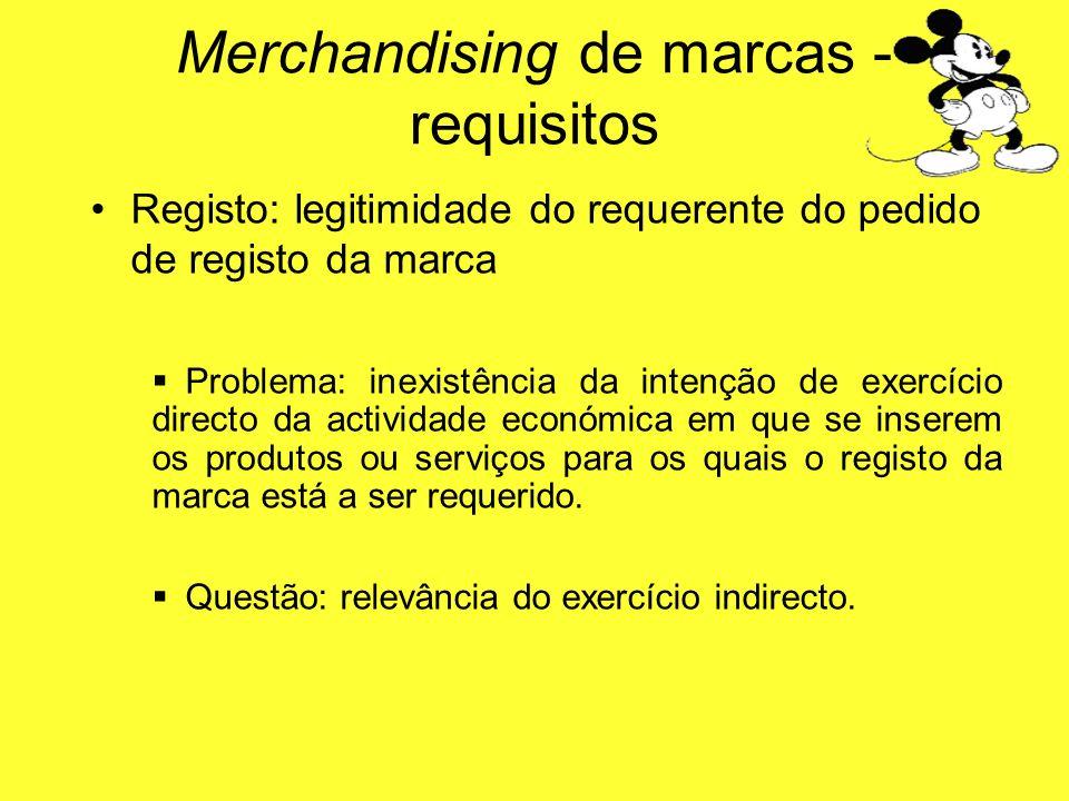 Registo: legitimidade do requerente do pedido de registo da marca Problema: inexistência da intenção de exercício directo da actividade económica em q