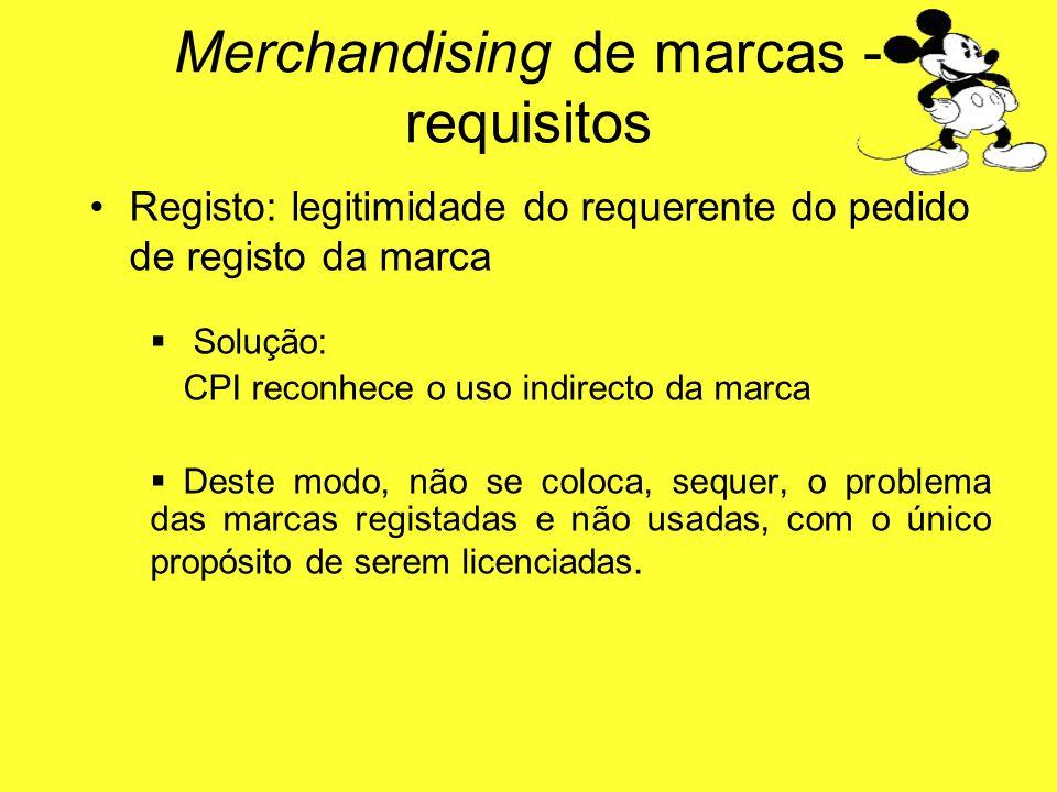 Registo: legitimidade do requerente do pedido de registo da marca Solução: CPI reconhece o uso indirecto da marca Deste modo, não se coloca, sequer, o