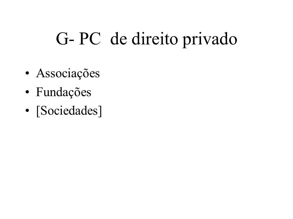 G- PC de direito privado Associações Fundações [Sociedades]
