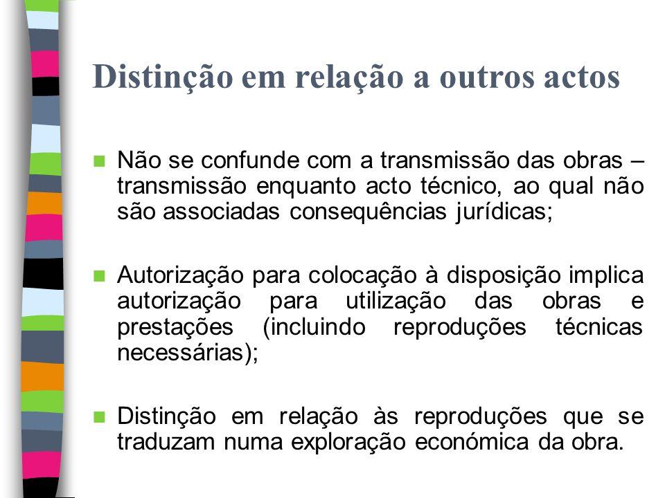 Directiva 2001/29/CE/Lei n.º 50/2004 Posição neutra da Directiva – 2.º Independência no CDADC – 68.º, n.º 2, j)