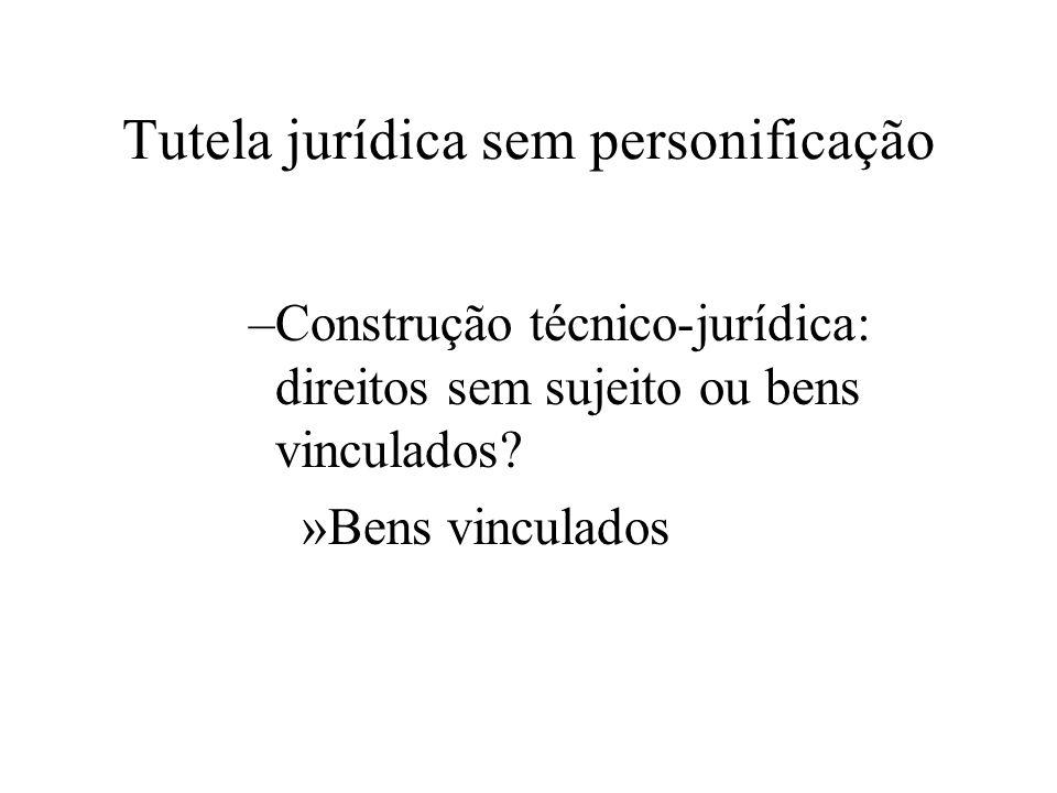 –Construção técnico-jurídica: direitos sem sujeito ou bens vinculados? »Bens vinculados