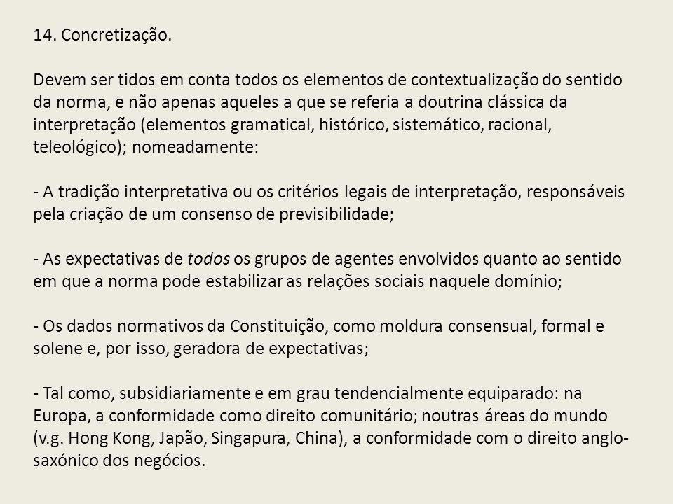 14. Concretização.