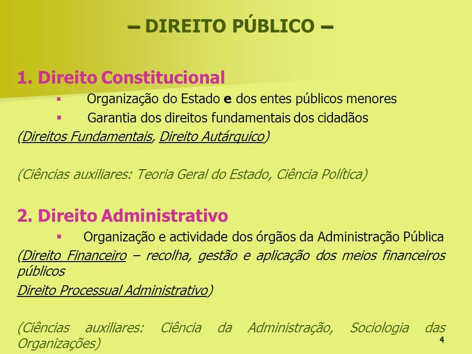 4 –– – DIREITO PÚBLICO – 1. Direito Constitucional Organização do Estado e dos entes públicos menores Garantia dos direitos fundamentais dos cidadãos
