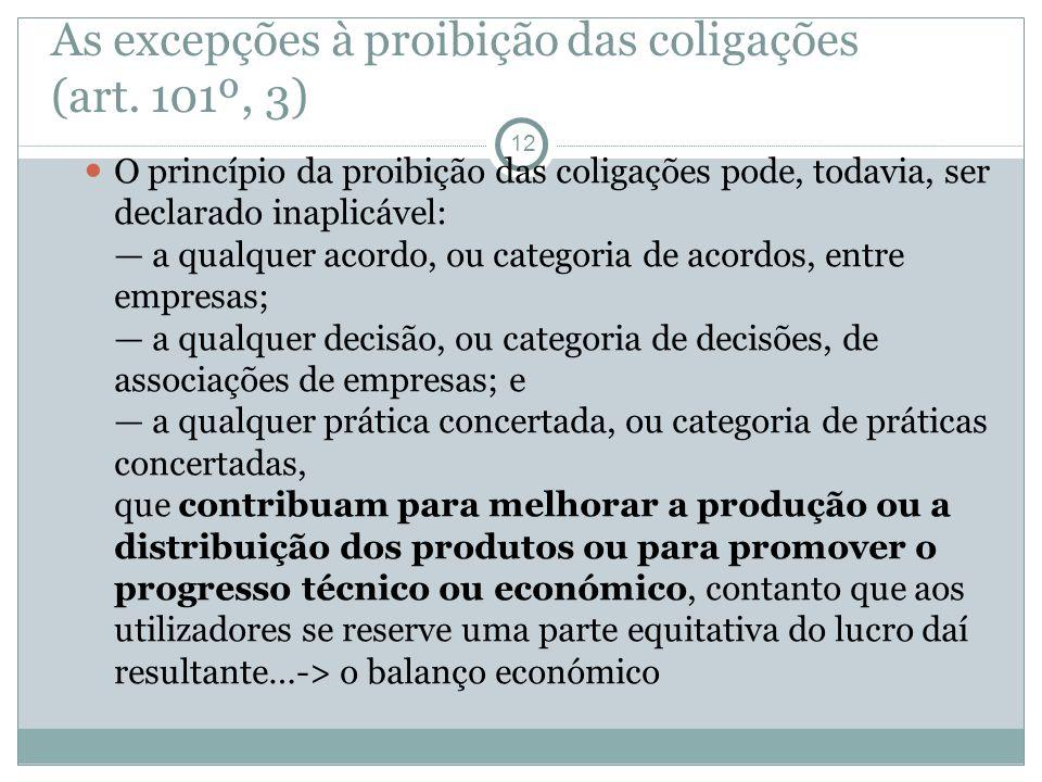 As excepções à proibição das coligações (art.