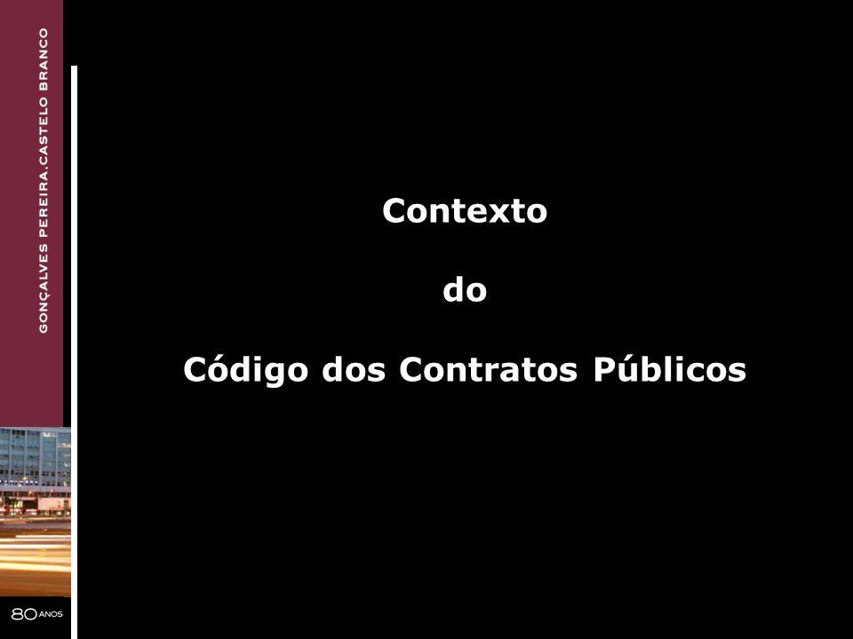 Contexto do Código dos Contratos Públicos