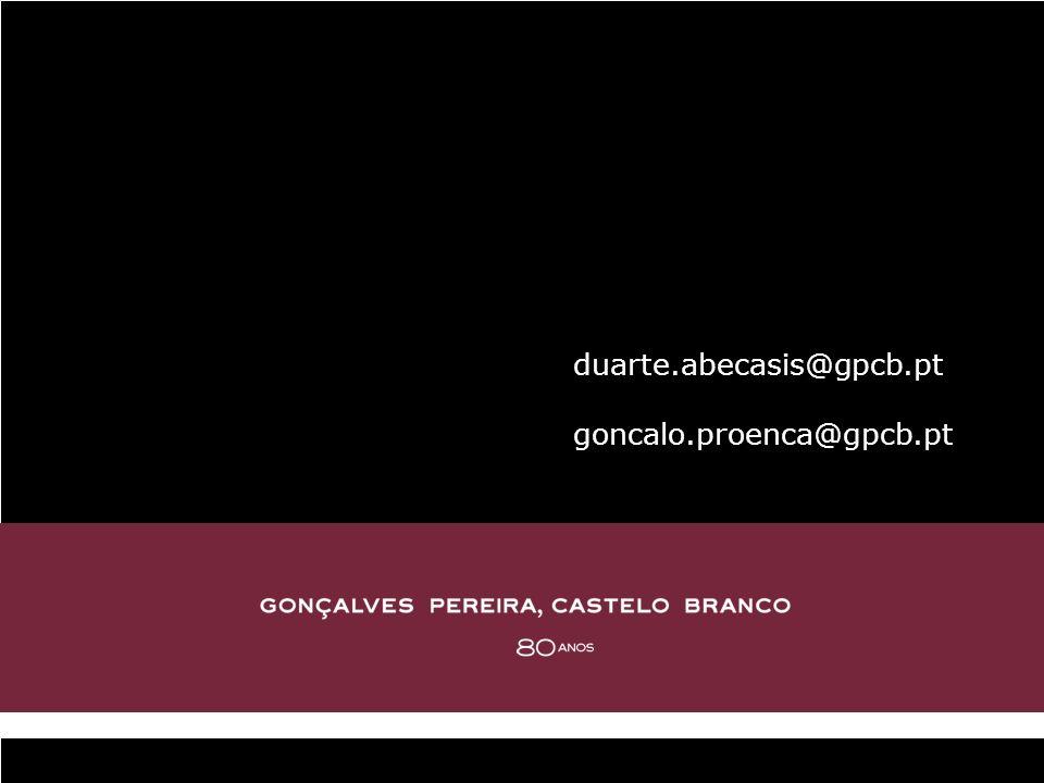 duarte.abecasis@gpcb.pt goncalo.proenca@gpcb.pt