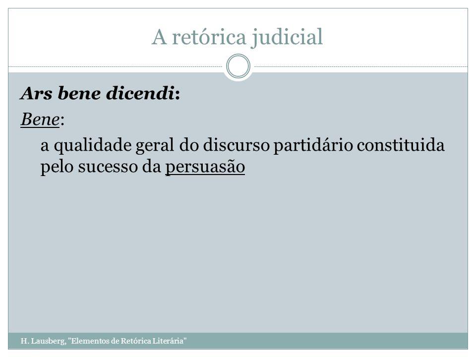 H. Lausberg, Elementos de Retórica Literária A retórica judicial A téoria da matéria