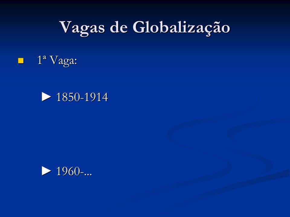 Vagas de Globalização 1ª Vaga: 1ª Vaga: 1850-1914 1850-1914 1960-... 1960-...
