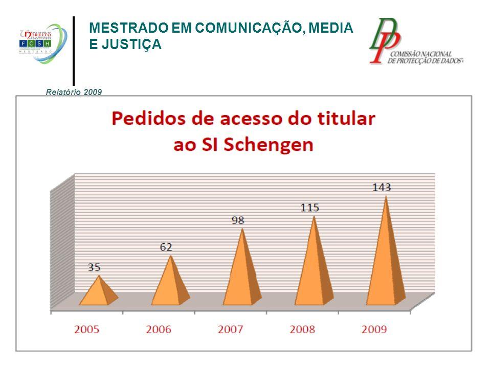 MESTRADO EM COMUNICAÇÃO, MEDIA E JUSTIÇA Relatório 2009