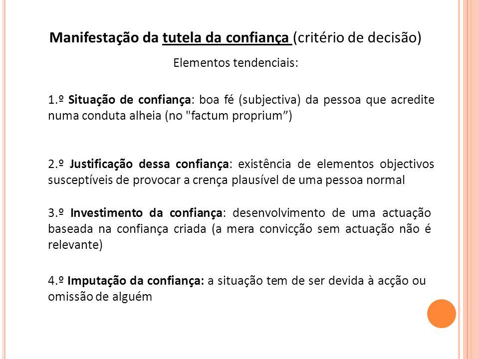 c) Inalegabilidades formais Invocação da invalidade formal de um negócio pela parte que o provocou intencionalmente Rejeição de casos de falta de forma evidente ou negligência grosseira Jurisprudência portuguesa - muitas vezes venire contra factum proprium