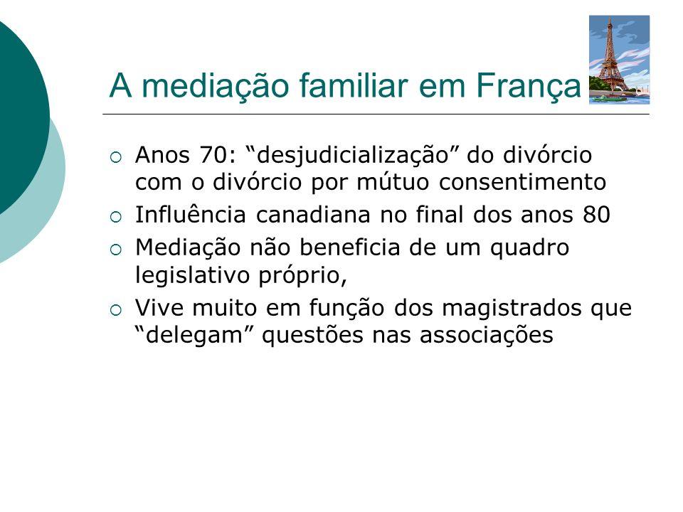 Estado cria estruturas e financia experiências de mediação.