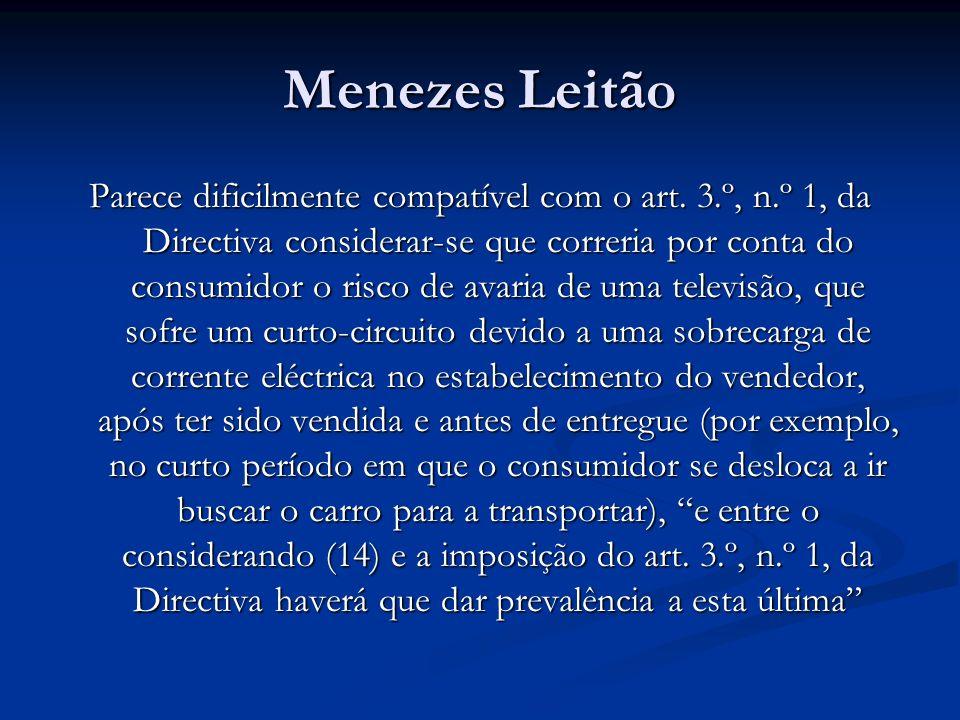 Menezes Leitão Parece dificilmente compatível com o art.