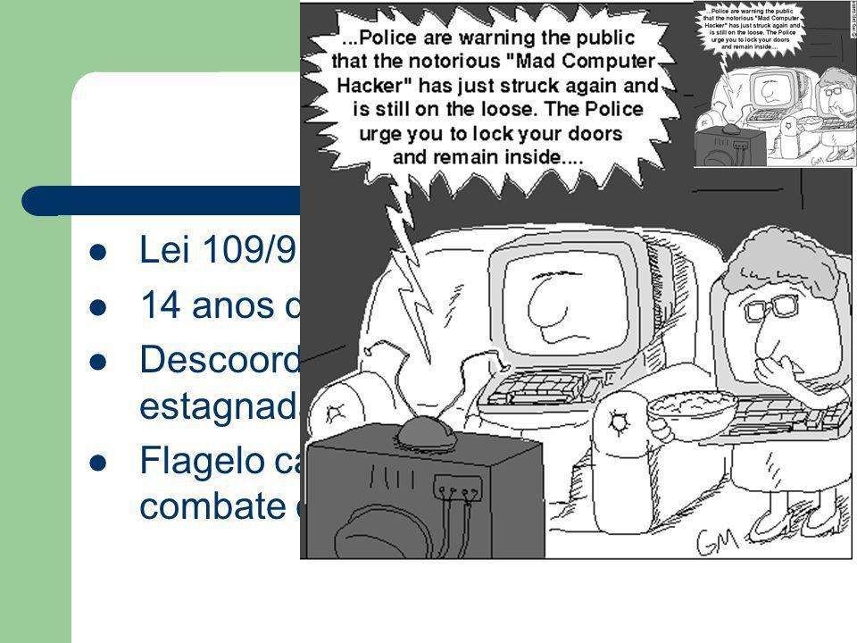 Conclusões.... Lei 109/91, 17 de Agosto 14 anos de vigência Descoordenada, obsoleta, insuficiente e estagnada Flagelo cada vez maior; meios de combate