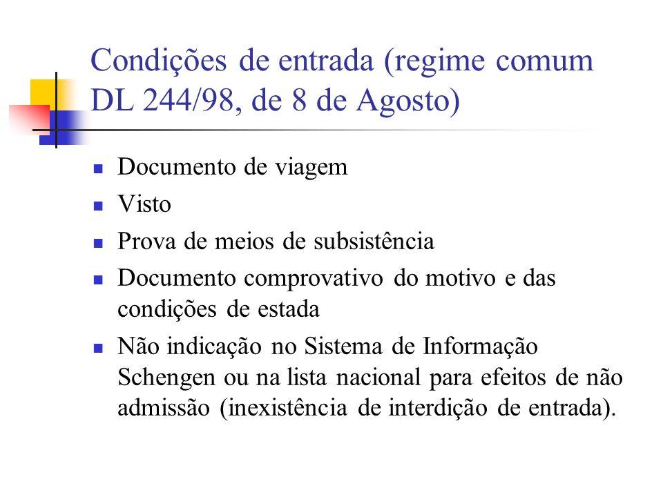 Garantias do estrangeiro não admitido (art.