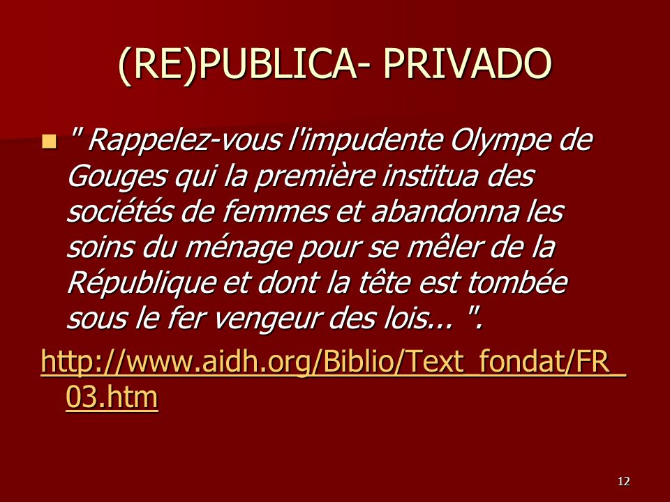12 (RE)PUBLICA- PRIVADO