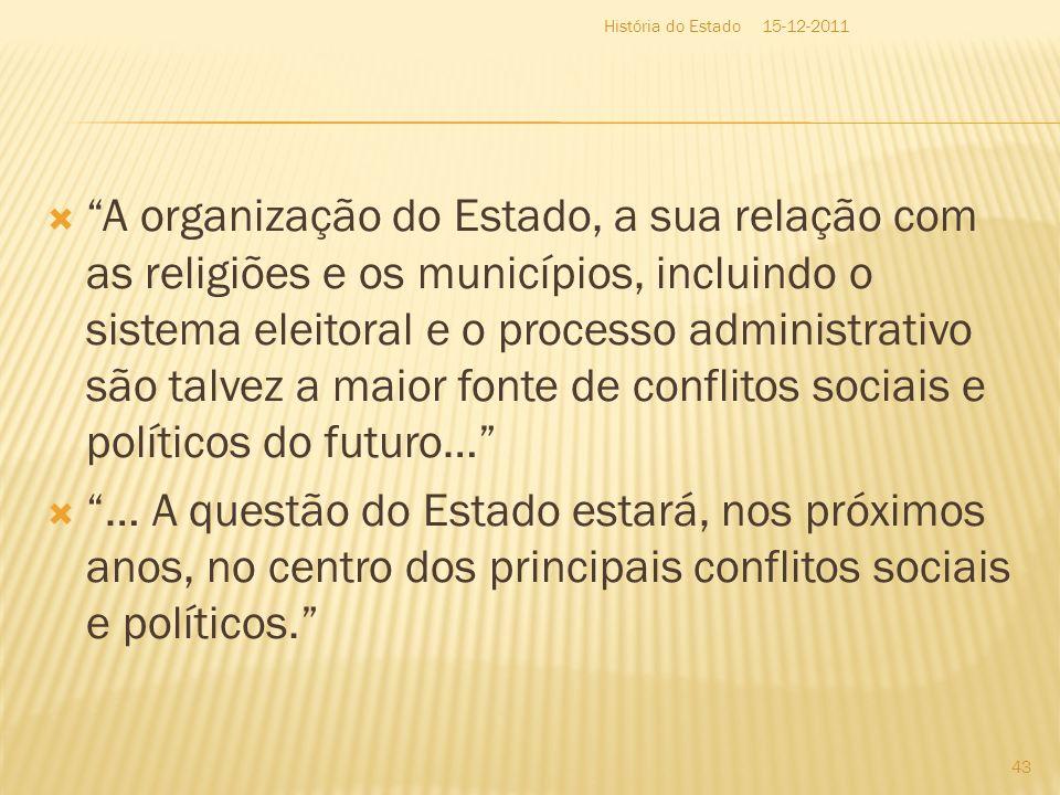 A organização do Estado, a sua relação com as religiões e os municípios, incluindo o sistema eleitoral e o processo administrativo são talvez a maior