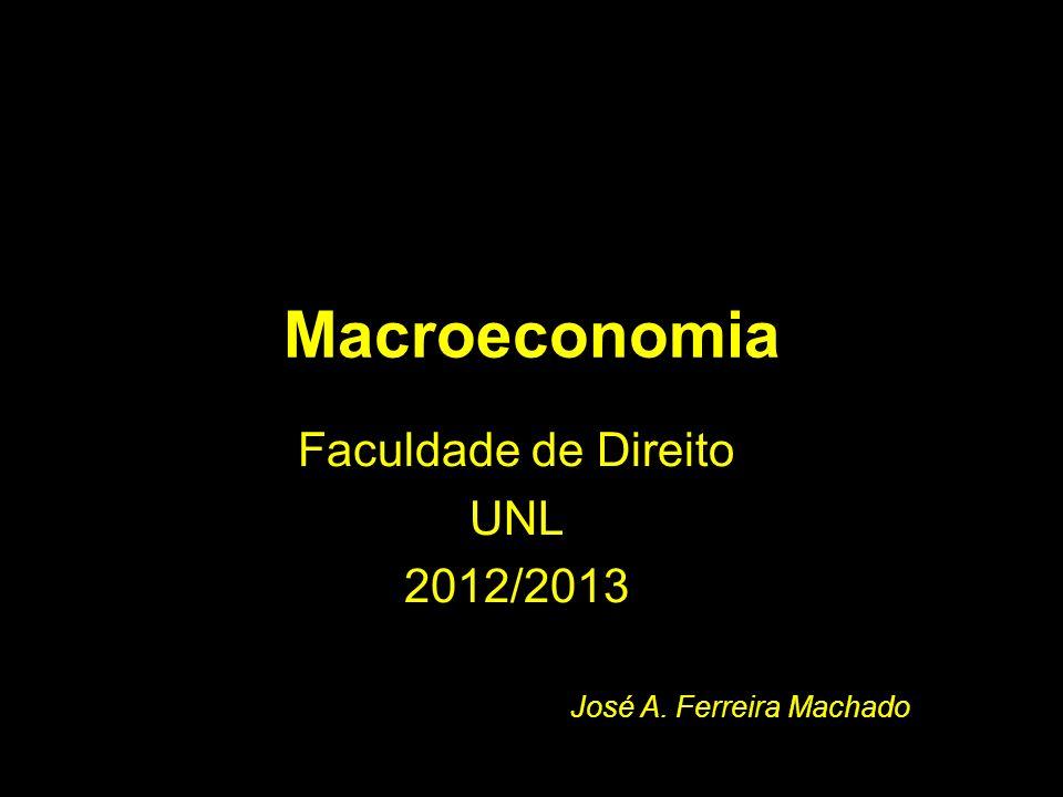 Macroeconomia Faculdade de Direito UNL 2012/2013 José A. Ferreira Machado