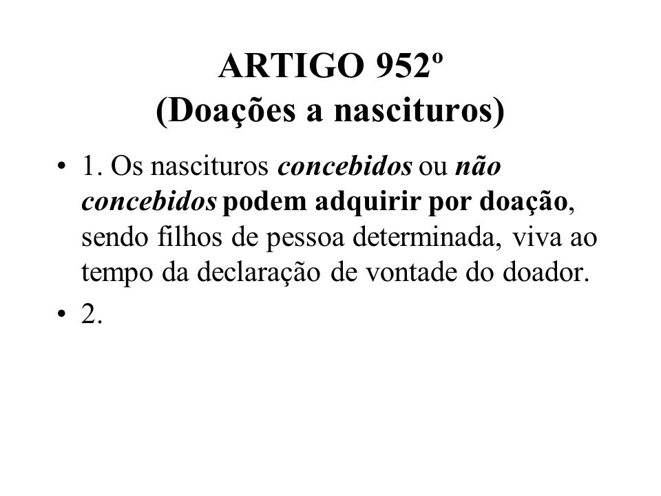 ARTIGO 2033º 1.