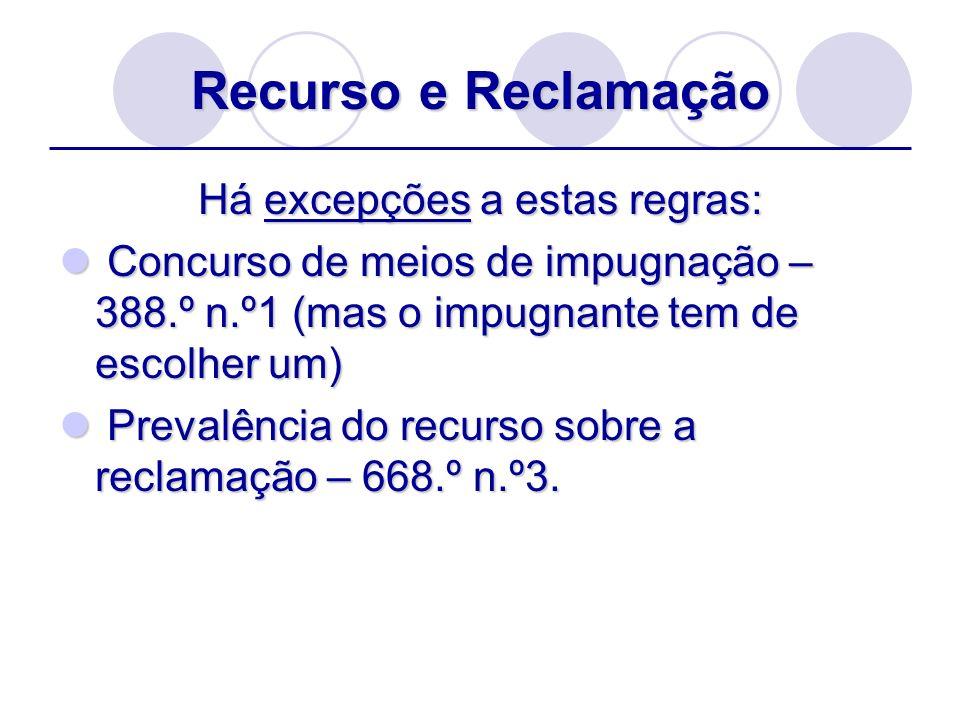Fase da interposição Formalidades das alegações: formular conclusões (690.º n.º1) e 690.º n.º2 se o recurso verter sobre matéria de direito.