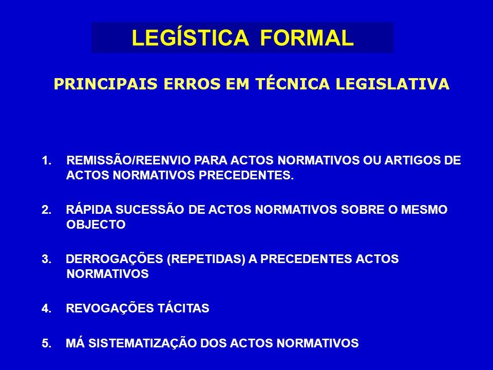 1.REMISSÃO/REENVIO PARA ACTOS NORMATIVOS OU ARTIGOS DE ACTOS NORMATIVOS PRECEDENTES.